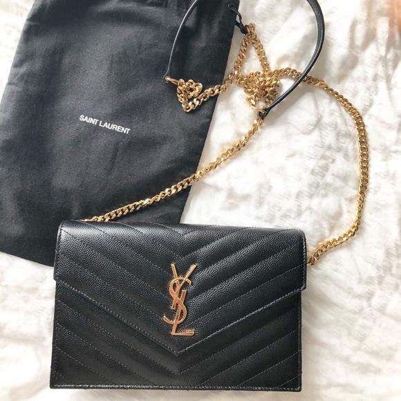 ccc1ec2d YSL Crossbody Black Envelope Classic Wallet Bag